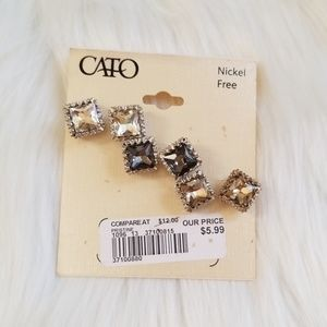 NWT Cato Faux Diamond Stud Earrings